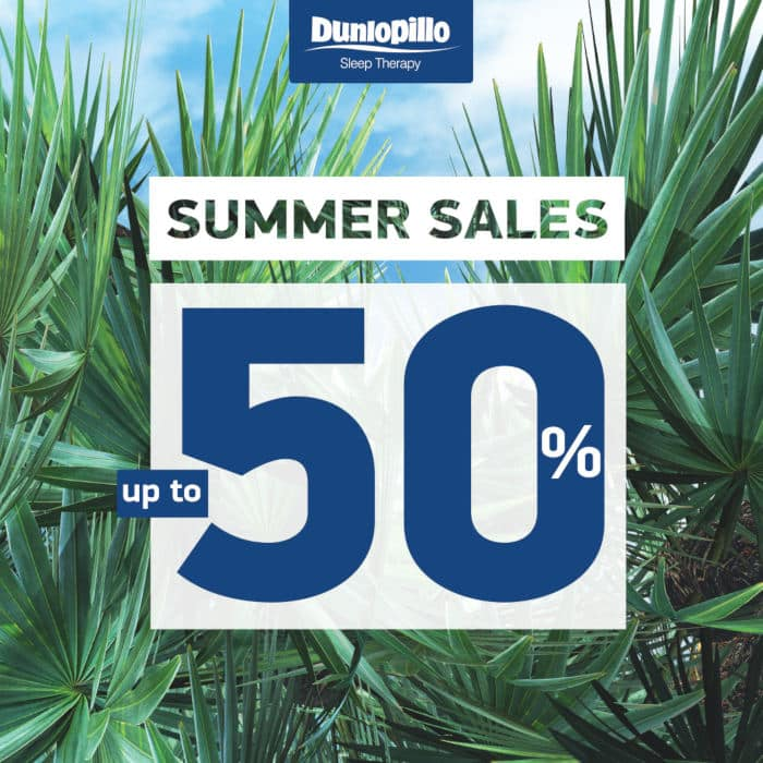 summer sales dunlopillo